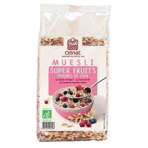 Muesli Super Fruits Graines de Chia Bio - 375 g 372320