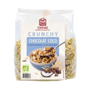 Crunchy chocolat coco bio en sachet de 500 g 372323
