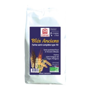 Farine de blés anciens T110 bio en sac de 1 kg 372404