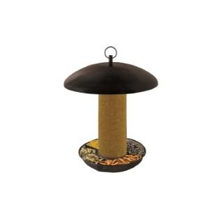 Kit de mangeoire à volonté noir en métal et cylindre Ø 25,5 x 25,5 cm 373183