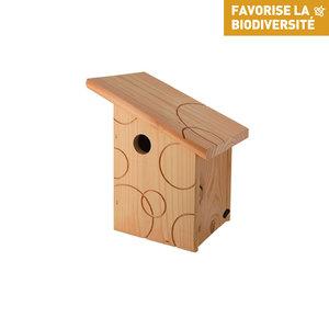 Nichoir la fiesta pour mésanges charbonnières en bois 20 x 22 x 28 cm 373698
