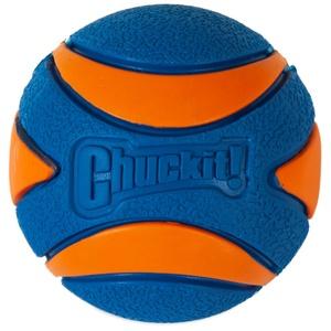 Balle pour chien bleue caoutchouc Chuckit! Ultra Squeaker Ball - Taille Medium 373720
