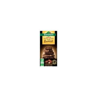Chocolat noir fourré au brownie Bonneterre bio 100 g 373728