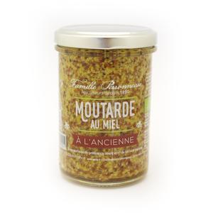 Moutarde au miel ancienne en pot de verre de 210 373778