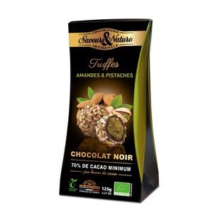 Truffes amande pistache en ballotin marron 100 g 373789