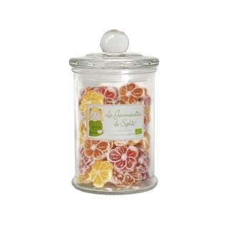 Bonbonnière fleurs 4 saveurs S 80g 374327
