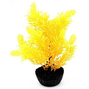 Arbre jaune en plastique petit modèle 18 cm 374751
