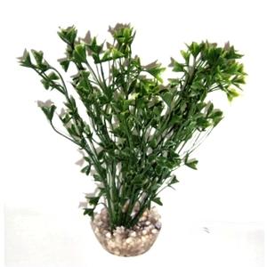 Algue colorée verte en plastique 15 cm 374761