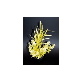 Herbe papillon jaune en plastique 15 cm 374772
