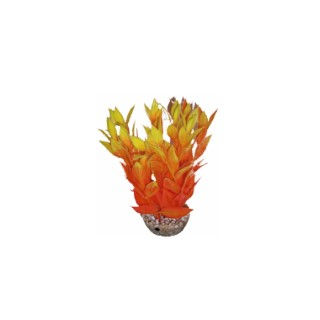 Dracaena orange en plastique 13 cm 374777