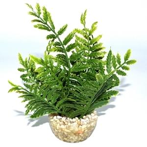 Fougère verte en plastique petit modèle 18 cm 374785