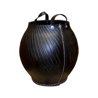 Outre en pneu recyclé couleur noire Petit format H 57 x Ø 45 cm 374912