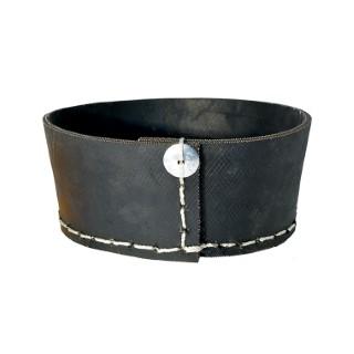 Corbeille ronde en pneu recyclé coloris noir H 8 x Ø 20 cm 374922