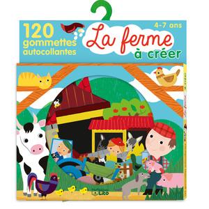 La Ferme Mon Petit Monde à Créer en Gommettes 4 ans Éditions Lito 374990