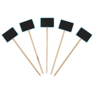 Etiquette à planter cadre bleu - 27 cm 375027