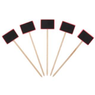 Etiquette à planter cadre rose - 27 cm 375028