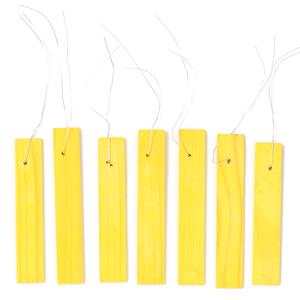 Etiquettes jaunes en bois à suspendre - 10 cm 375029
