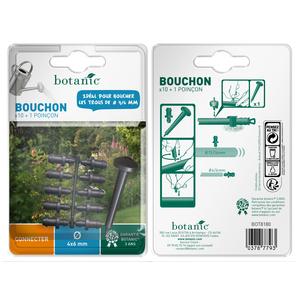 Bouchon cannelé Ø 6 mm x 10 + 1 poinçon 378779