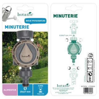 Minuterie d'arrosage 1 voie filetage 20 x 27 mm 378846