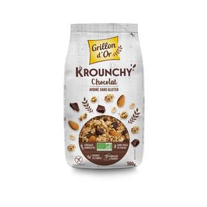 Krounchy au chocolat et avoine sans gluten bio 500 378922