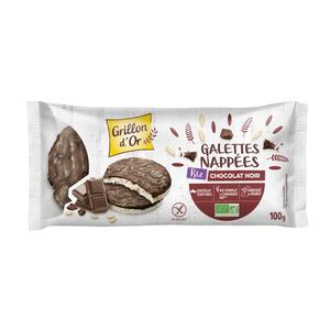 Galettes de riz nappées de chocolat noir bio 100 g 378926