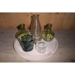 Plateau avec vases et photophores 379010