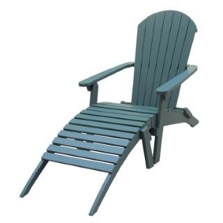Chaise longue Adirondack bleu 379148