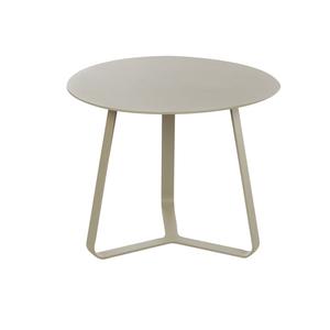 Table basse beige en aluminium Ø45 x H.35 cm 379152