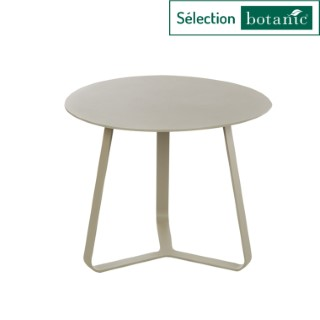 Table basse en aluminium coloris sable Ø45 x H 35 cm 379152