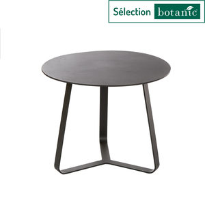 Table basse en aluminium coloris anthracite Ø45 x H 35 cm 379153