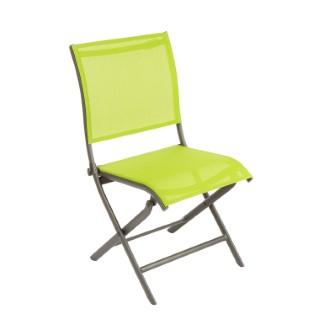 Chaise Élégance en aluminium vert 92 x 49 x 60 cm 379186