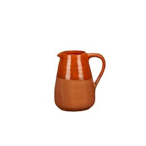 Pichet bicolore coloris rouge terra cotta en céramique 379307