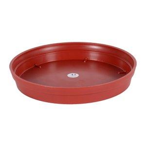 Soucoupe Toscane couleur rouge rubis - Ø 34,5cm x H4,8 cm 379392