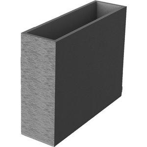 Muret loft gris gamme  Graphit L99,5xI29,5xH78,5 cm 379394