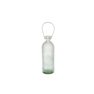Vase bouteille décor fleuri 379489