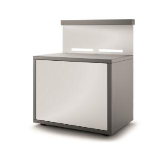 Support pour plancha fermé en acier gris blanc 379900