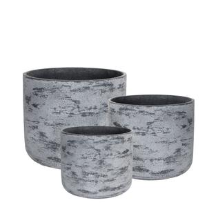 Pot rond gris gamme Edelweiss Ø 31 cm 380251