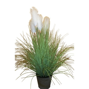 Herbe de Pampa pot zinc 135 cm 380999