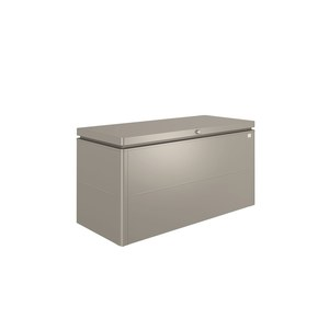 Coffre loungebox gris quartz métallique 160x70x83,5 cm 382367