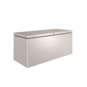 Coffre loungebox argent métallisé 200x84x88,5 cm 382370