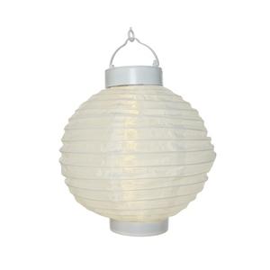Lanterne ronde solaire blanche à LED blanc chaud Ø 20 cm 385092