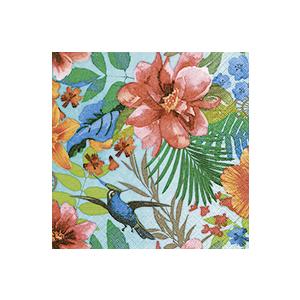 Serviettes x20 3 plis 25x25 cm Tropical paradise 385852