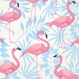 Serviettes x20 3 plis 33x33 cm Flamingo garden 386075