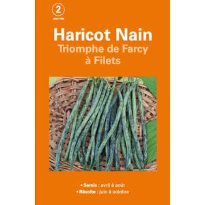 Semences pour haricot nain de la variété triomphe de farcy 200 g - 2 m 386194