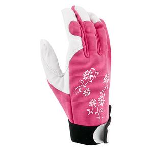 Gants Jardy cuir et élasthanne coloris Rose Taille 7 388166