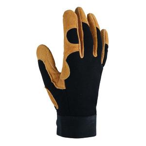 Gants Control coloris Marron en polyester et cuir Taille 8 388192