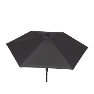 Parasol rond à manivelle gris 389162