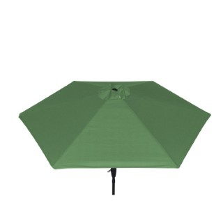 Parasol rond à manivelle vert 389163