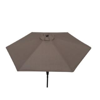 Parasol rond à manivelle beige 389165