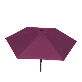 Parasol rond à manivelle violet 389169